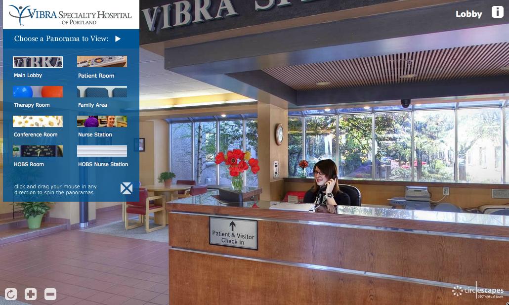 Vibra Hospital Virtual Tour