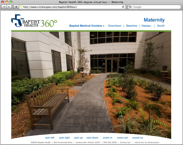baptist hospital virtual tour by circlescapes