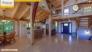 Heirloom Timber Framing Virtual Tour by Circlescapes