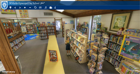 Screen shot of the St. Mark's Episcopal Day School Virtual Tour